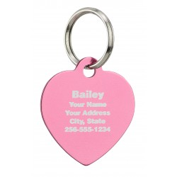 Pet ID Tag Heart Design