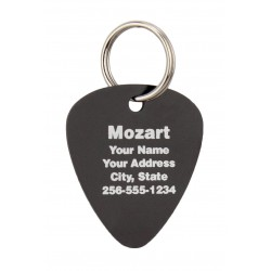 Pet ID Tags Guitar Pick Design