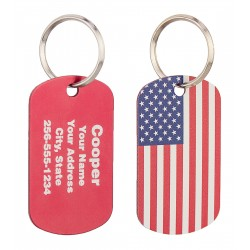 Military Dog Tag American Flag Design