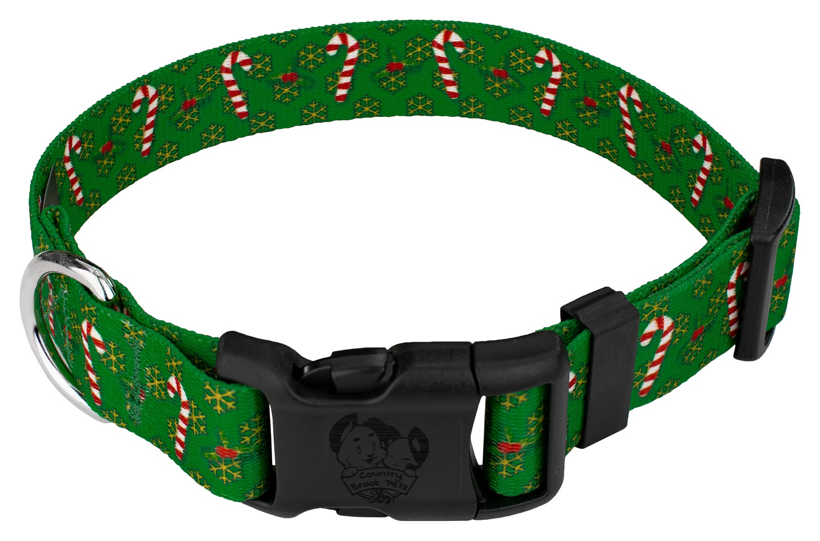 Buy Deluxe Candy Cane Christmas Dog Collar Online