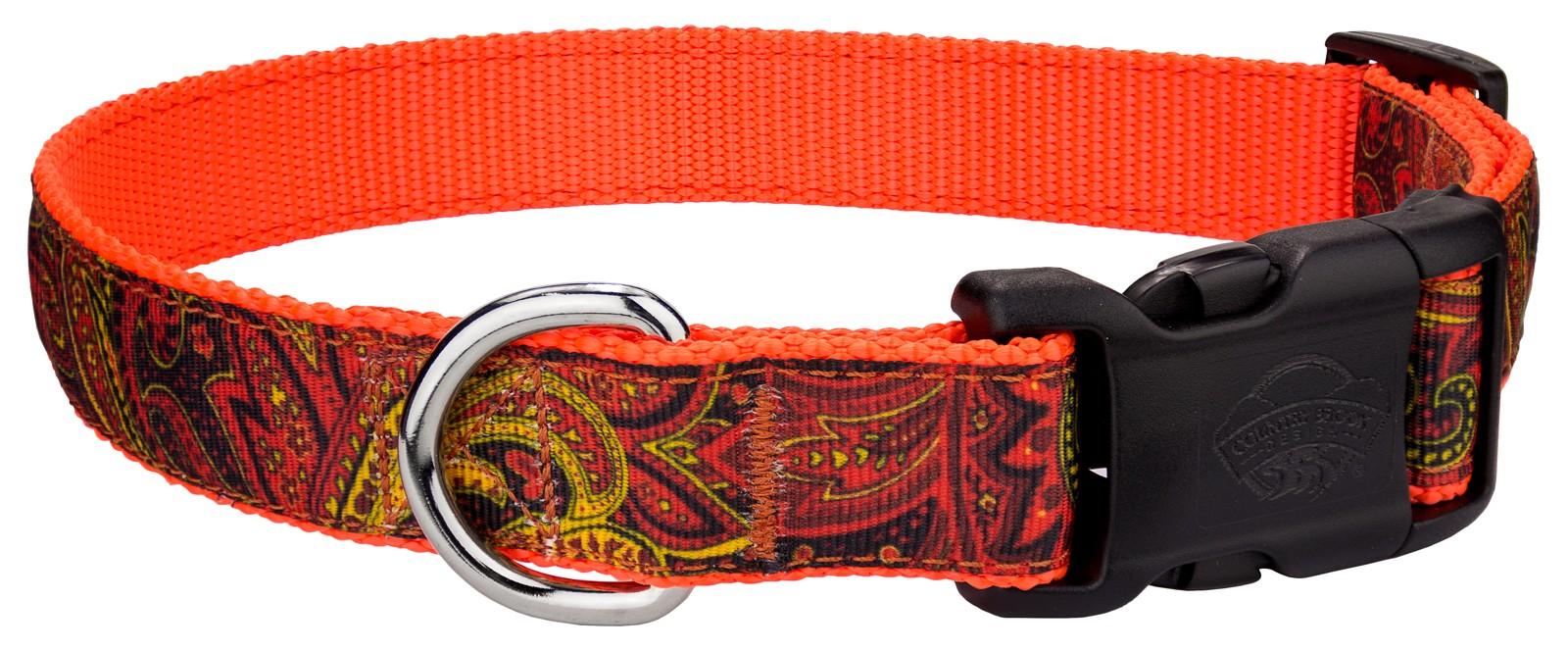 Country Brook Design® Fire Paisley Grosgrain Ribbon