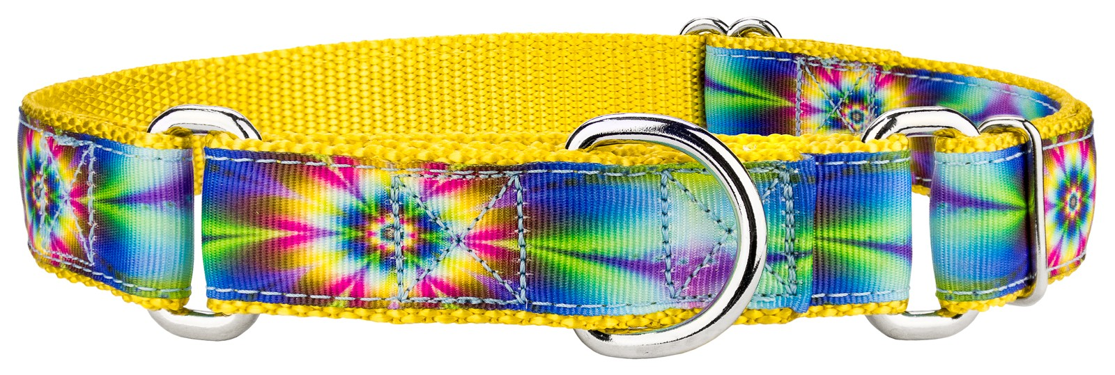 Buy tie dye flowers ribbon martingale dog collar online for Order tie dye roses online