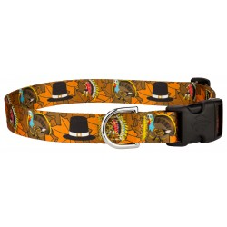 Thanksgiving Tradition Featherweight Deluxe Dog Collar
