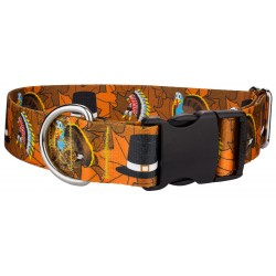 1 1/2 Inch Deluxe Thanksgiving Tradition Dog Collar