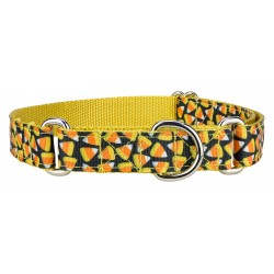 Candy Corn Ribbon Martingale Dog Collar