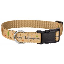 Deluxe Happy Thanksgiving Ribbon Dog Collar
