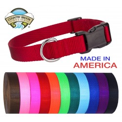 10 - Deluxe Nylon Dog Collars (Various colors & sizes available!!)