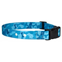 Blue Bone Camo Replacement Collar For Dog Fence Receivers