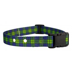Blue and Green Plaid Replacement Collar For Dog Fence Receivers