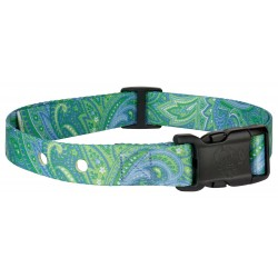 Green Paisley Replacement Collar For Dog Fence Receivers