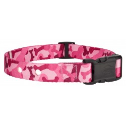 Pink Bone Camo Replacement Collar For Dog Fence Receivers