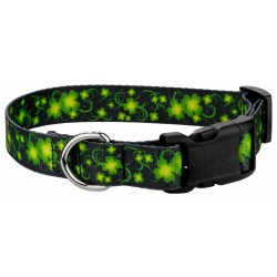 Deluxe Clovers In The Wind Dog Collar