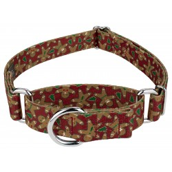 Gingerbread Martingale Dog Collar