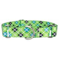 Margarita Argyle Martingale Dog Collar