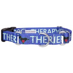 Blue Therapy Dog Martingale with Deluxe Buckle