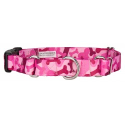Pink Bone Camo Martingale with Deluxe Buckle