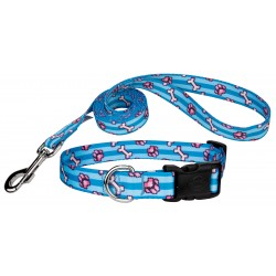 Pixel Paws Deluxe Dog Collar & Leash