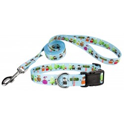 Snowman Party Deluxe Dog Collar & Leash