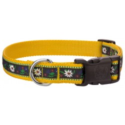 Deluxe Edelweiss Ribbon Dog Collar