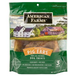 American Farms™ Smoked Pig Ears, 3 Pack