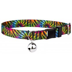 Tie Dye Stripes Featherweight Cat Collar