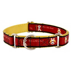 My Little Devil/Angel Ribbon Martingale Dog Collar Limited Edition