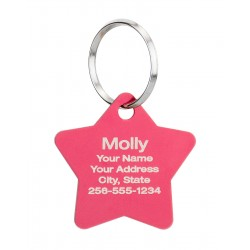Pet ID Tags Star Design