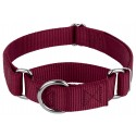 Burgundy Martingale Heavyduty Nylon Dog Collar
