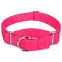 Hot Pink Martingale Heavyduty Nylon Dog Collar