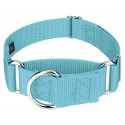 1 1/2 Inch Martingale Nylon Dog Collar - Ocean Blue