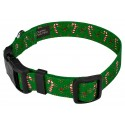 Deluxe Candy Cane Christmas Dog Collar - Secondary Angle
