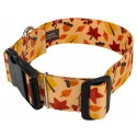 1 1/2 Inch Deluxe Fall Foliage Dog Collar - Secondary Angle