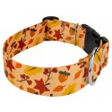 1 1/2 Inch Deluxe Fall Foliage Dog Collar - Third Angle