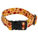 1 1/2 Inch Deluxe Fall Foliage Dog Collar
