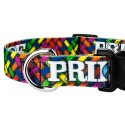 Deluxe Pride and Peace Dog Collar - Close Up