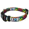Deluxe Pride and Peace Dog Collar - Secondary View