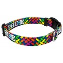 Deluxe Pride and Peace Dog Collar - Third Angle