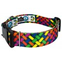 1 1/2 Inch Deluxe Pride and Peace Dog Collar - Secondary VIew