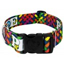 1 1/2 Inch Deluxe Pride and Peace Dog Collar
