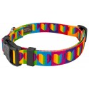 Deluxe Rainbow Hearts Dog Collar - Secondary View