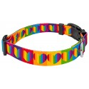 Deluxe Rainbow Hearts Dog Collar - Third View