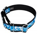 1 1/2 Inch Blue Hawaiian Exclusive Martingale Dog Collar - Secondary Angle