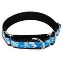1 1/2 Inch Blue Hawaiian Exclusive Martingale Dog Collar