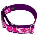 1 1/2 Inch Pink Hawaiian Exclusive Martingale Dog Collar - Secondary Angle