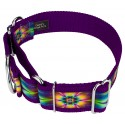 1 1/2 Inch Tie Dye Flowers Exclusive Martingale Dog Collar - Secondary Angle
