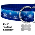 1 1/2 Inch Winter Wonderland Exclusive Martingale Dog Collar - Closeup