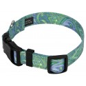 Deluxe Green Paisley Reflective Dog Collar - Secondary Angle