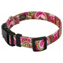 Deluxe Pink Paisley Reflective Dog Collar - Secondary Angle