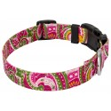 Deluxe Pink Paisley Reflective Dog Collar - Third View