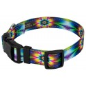 Deluxe Tie Dye Flowers Reflective Dog Collar - Secondary Angle